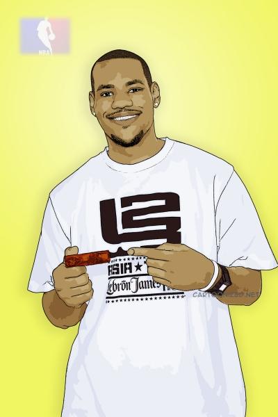 lebron james cartoon photo by cartoonized.net