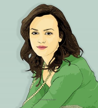 Photo Cartoon of Leighton Meester