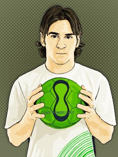 Photo Cartoon of Lionel Messi
