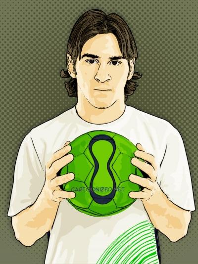 Photo Cartoon of Lionel Messi