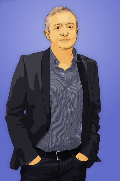 cartoon photo of louis walsh by cartoonized.net