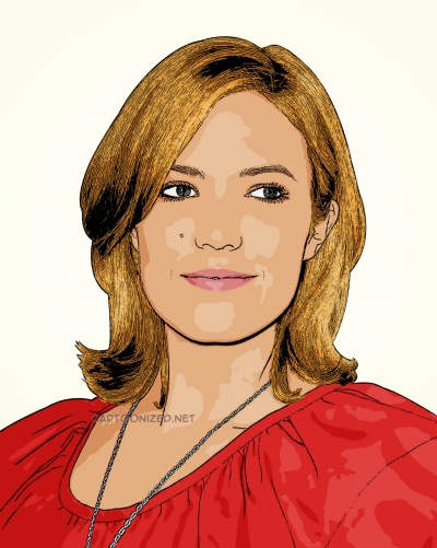 Photo cartoon of Mandy Moore