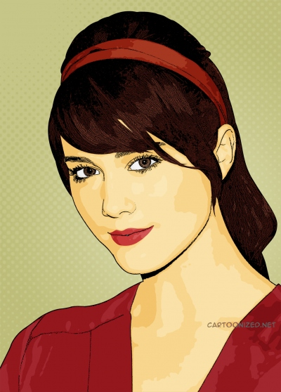 cartoon photo of mary elizabeth winstead by cartoonized.net