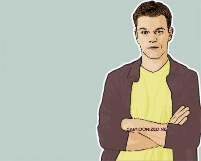 Photo Cartoon of Matt Damon