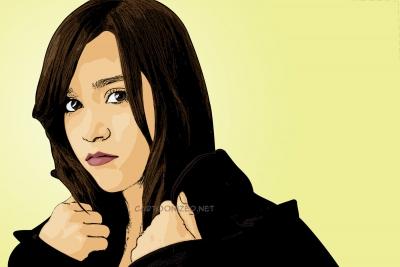 Cartoon photo of Megan Nicole