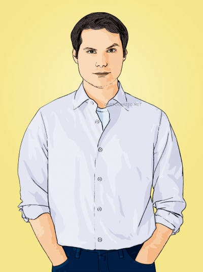 Photo cartoon of Michael Ian Black