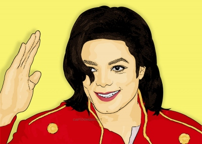 Photo Cartoon of michael jackson