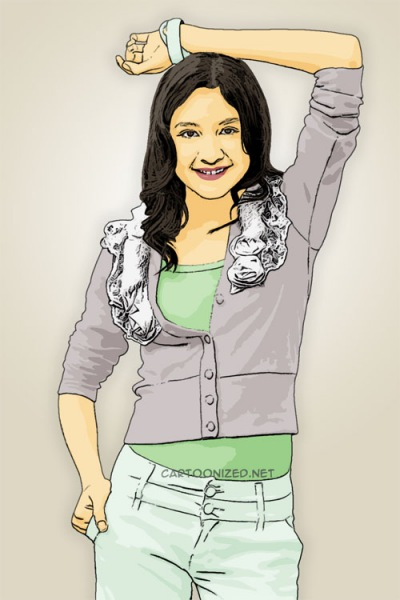 cartoon photo of mikha tambayong by cartoonized.net