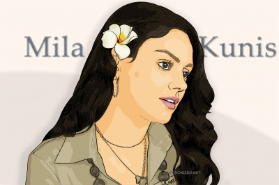 cartoon photo of mila kunis by cartoonized.net