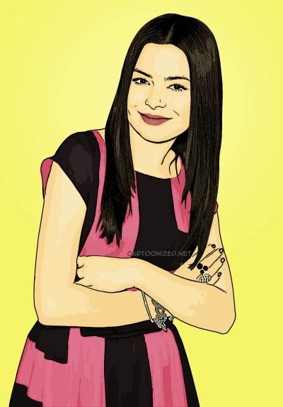 Photo Cartoon of Miranda Cosgrove
