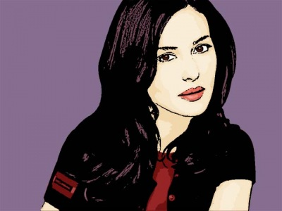 Photo Cartoon of monica bellucci