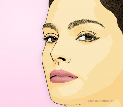 Photo Cartoon of Natalie Portman