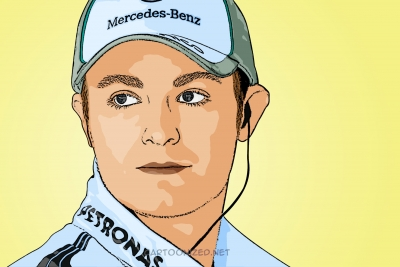 Photo cartoon of Nico Rosberg