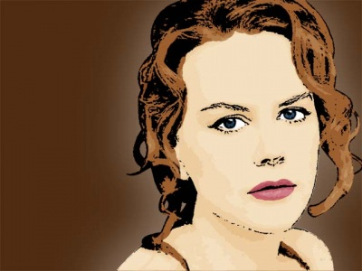 Photo Cartoon of Nicole Kidman