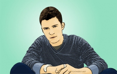 Photo Cartoon of Orlando Bloom