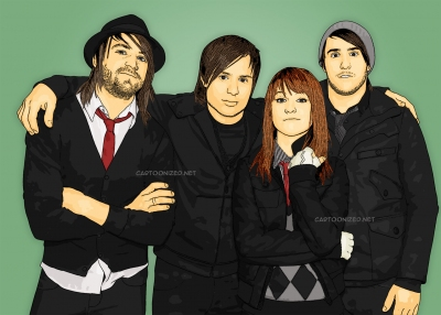 Photo Cartoon of Paramore