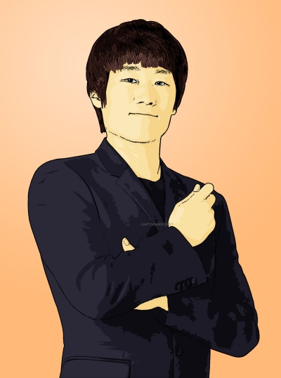 Photo Cartoon of Park Ji Sung
