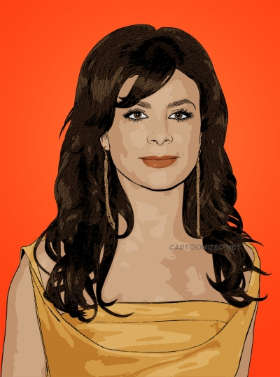 Photo cartoon of Paula Abdul