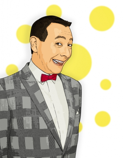 Photo Cartoon of Pee-wee Herman