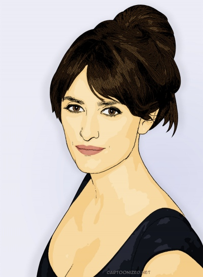 Photo Cartoon of Penelope Cruz