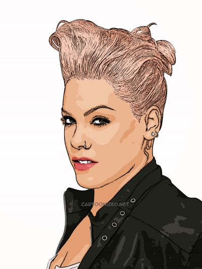Photo Cartoon of Pink!