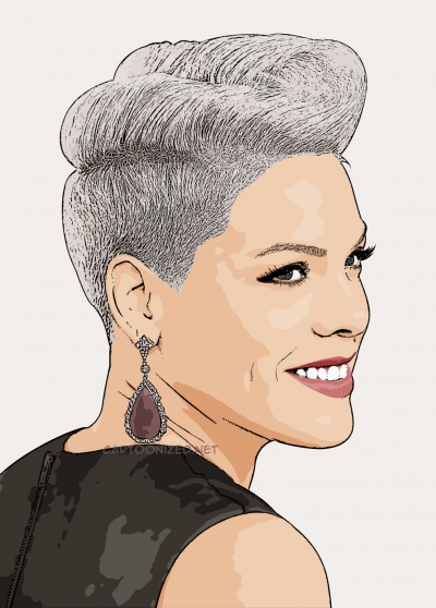 Cartoon photo of Pink