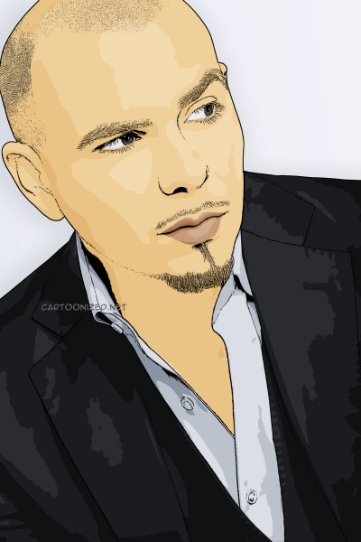 cartoon photo of pitbull