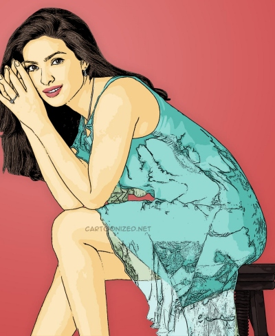 Photo Cartoon of priyanka chopra