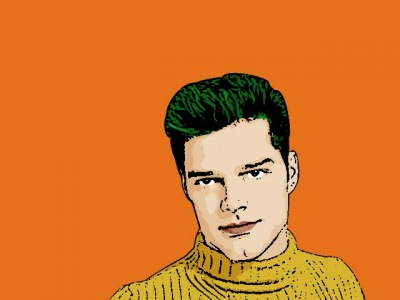 Photo Cartoon of Ricky Martin