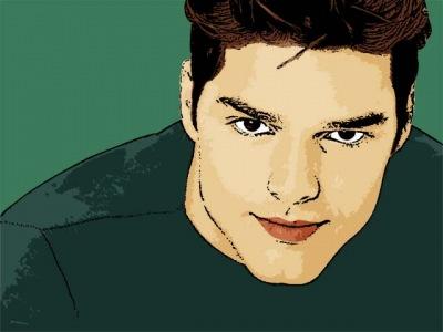 Photo Cartoon of Ricky Martin
