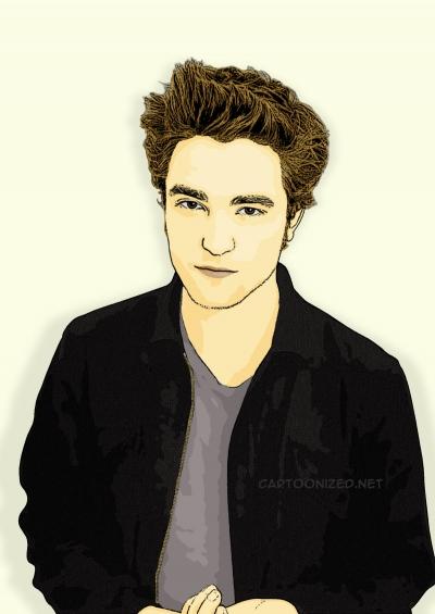 Photo Cartoon of Robert Pattinson