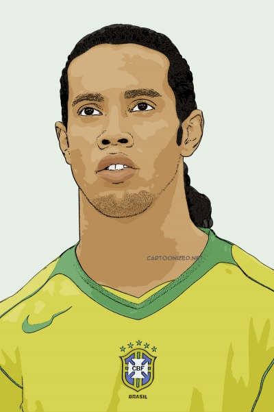 cartoon photo of ronaldinho