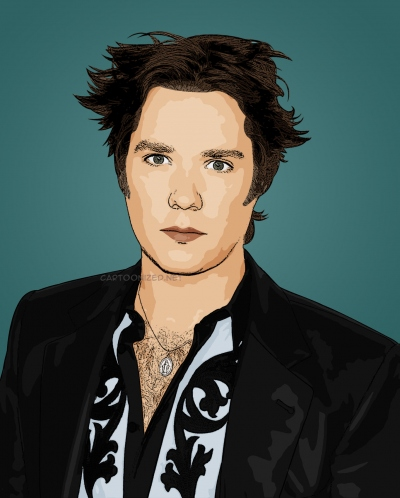 cartoon photo of Rufus Wainwright