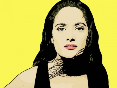 Photo Cartoon of Salma Hayek
