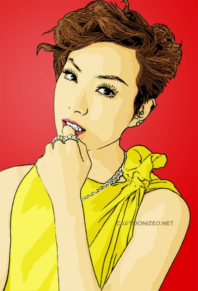 cartoon photo of sammi cheng by cartoonized.net