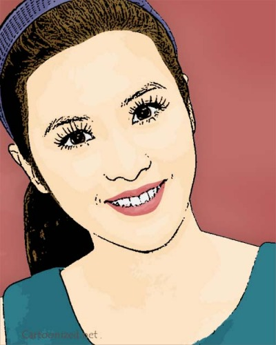 Photo Cartoon of Sandra Dewi