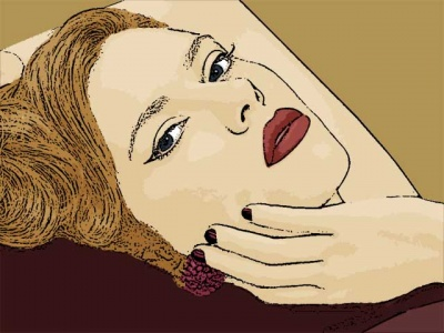 Photo Cartoon of scarlett johansson