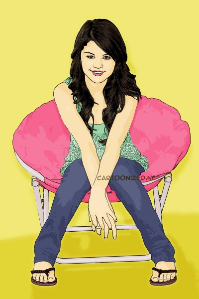Photo Cartoon of Selena Gomez