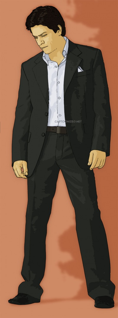 Photo Cartoon of Shah Rukh Khan