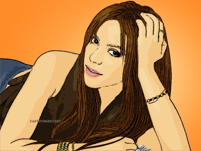 Photo Cartoon of Shakira