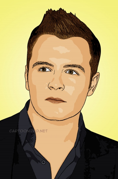 Photo cartoon of Shane Filan of Westlife