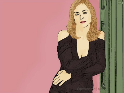 Photo Cartoon of Sharon Stone