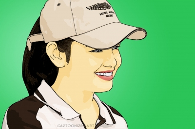 Photo Cartoon of Siti Nurhaliza