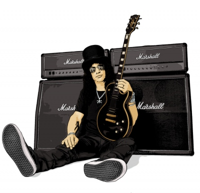 Photo Cartoon of Slash