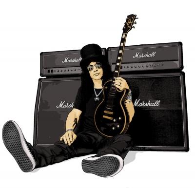 Photo Cartoon of Slash