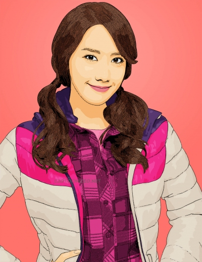 Photo Cartoon of Im Yoona SNSD girl's generation by cartoonized.net