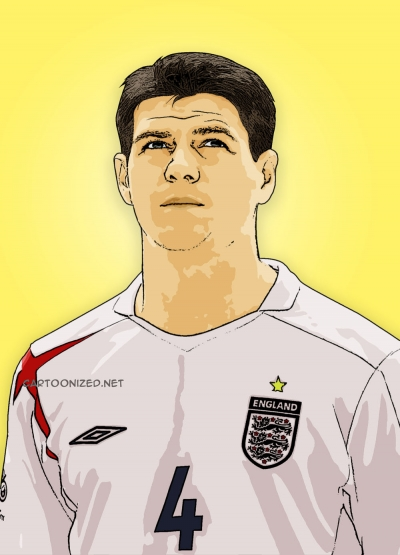 steven gerrard cartoon photo