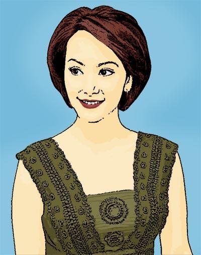 Photo Cartoon of Susan Bachtiar