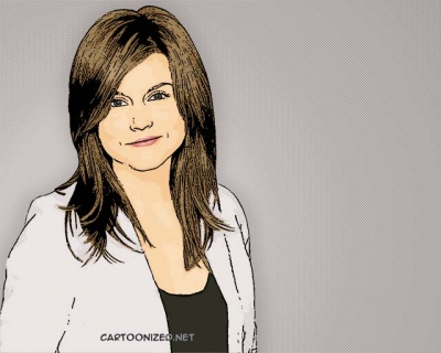 Photo Cartoon of Tiffani Amber Thiessen