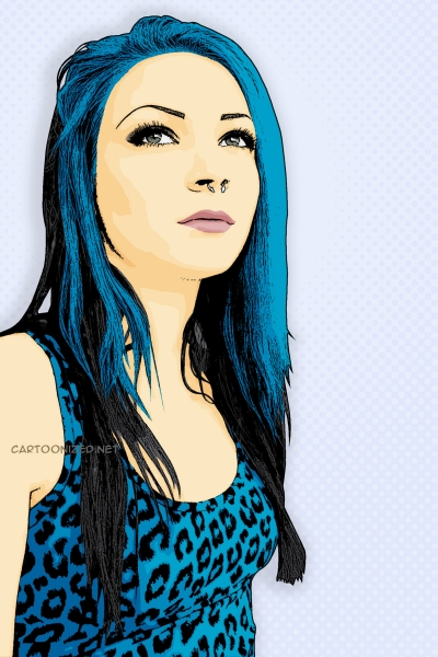 Photo Cartoon of Disa Braun a.k.a. TwiggX